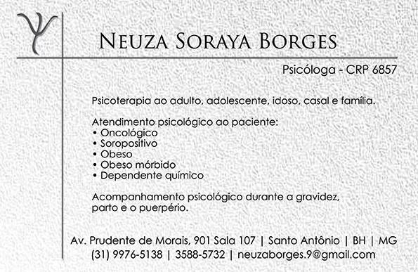 Neuza Soraya Borges – Psicoterapia individual de adolescentes, adultos e idosos