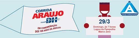 Corrida Araujo – Sorteio de dois cupom de isenção da taxa de inscrição na Corrida Araujo BH do dia 29/3