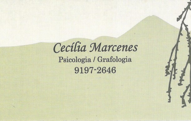 Psicóloga Maria Cecília Marcenes Pinheiro