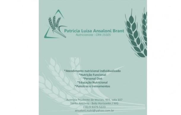 Nutricionista Patricia Luisa Ansaloni Brant