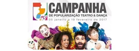 Sorteio de ingressos para Campanha de Popularização Teatro e Dança