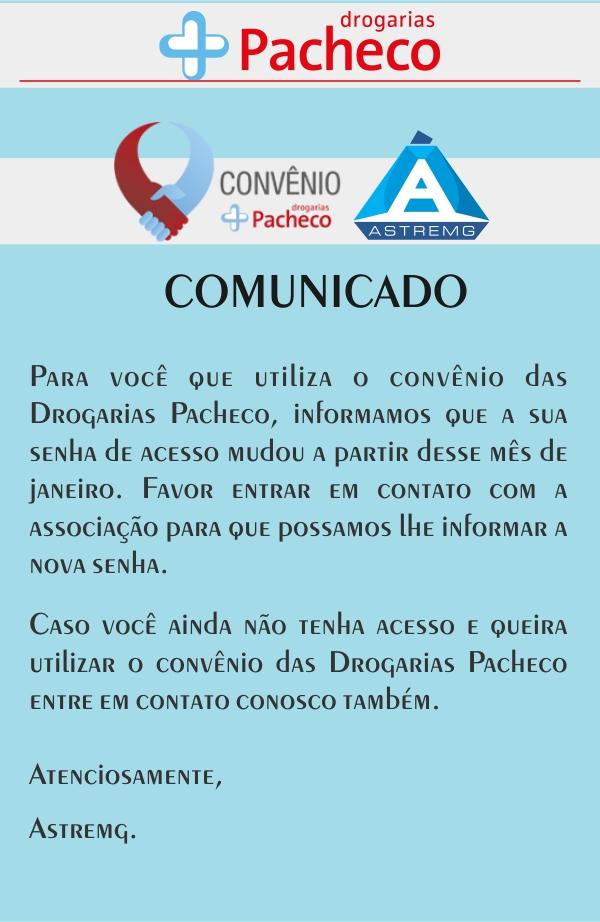 Drogaria Pachego - Astremg - Comunicado