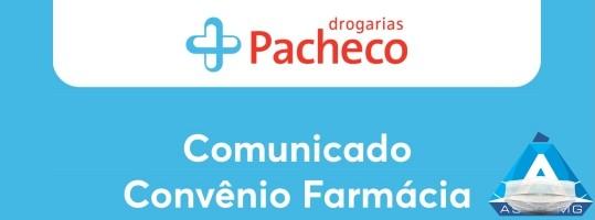 Comunicado Convênio Farmácia – Drogarias Pacheco
